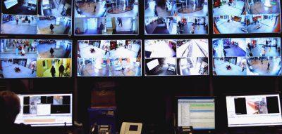 security camera videowall