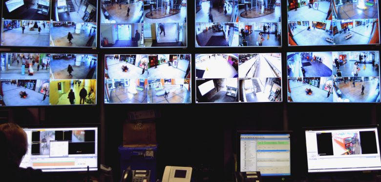 security camera videowall